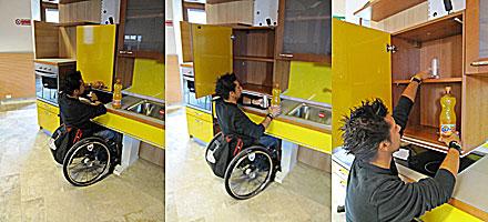 Pensili per disabili idee per interni e mobili for Piani domestici accessibili per disabili
