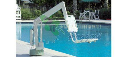 Sollevatore per piscina axs per disabili compatto e economico - Sollevatore piscina per disabili ...