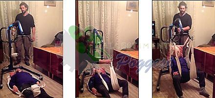 sollevatore per disabili, utile ad alzare il disabile o anziano da terra