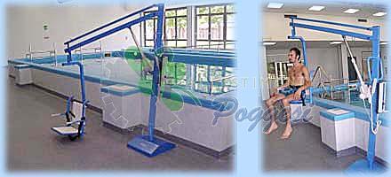 Sollevatore per piscina fisso a piastra pavimentale per - Sollevatore piscina per disabili ...